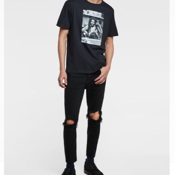 33b90ee0 MENS Zara black ripped knee skinny jeans